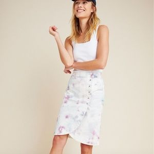 NWT Anthropologie Tie-Dyed Tulip Midi Skirt